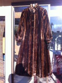 Womens Faux Mink Fur Coat | eBay