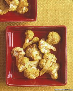 Roasted Curried Cauliflower - Martha Stewart Recipes