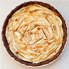 Gluten-Free Pear, Chocolate & Hazelnut Tart / 23 Gorgeous Gluten-Free Thanksgiving Desserts (via BuzzFeed)
