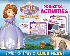 Free Sophia the First Princess Activities!