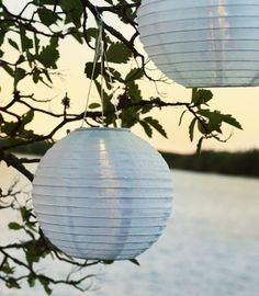 SOLVINDEN solar-powered LED lanterns - charge them by day and enjoy their light all night.