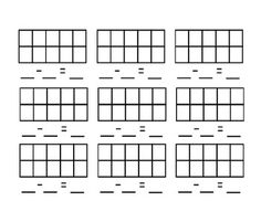This is a blank ten frames template to create your own subtraction problems. This is aligned to the Common Core State Standards. ...