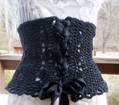 Crochet corset. Too cute!