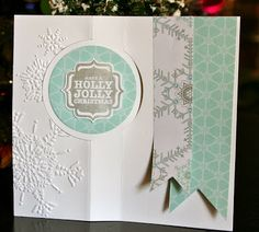 Stampin' Up! Christmas by Krystal's Cards and More: Festive Flurry Circle Card