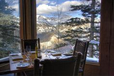 Corner table at Allred's overlooking Telluride - sat at this table last week! :)