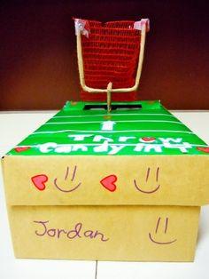 football Valentine's box