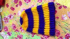 LSU knit ribbed hat