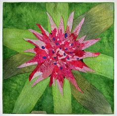 Beauty by Laura Krasinski, floral art quilt, Milwaukee art quilters