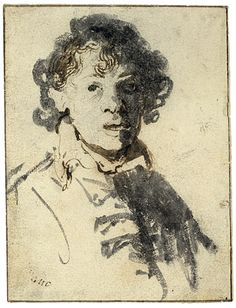 Self-portrait with Mouth Open by Rembrandt