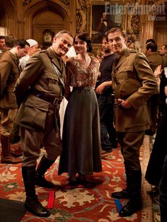 Downton Abbey Series 2 Behind-the-Scenes - Robert, Mary, Matthew - I just love this picture. <3