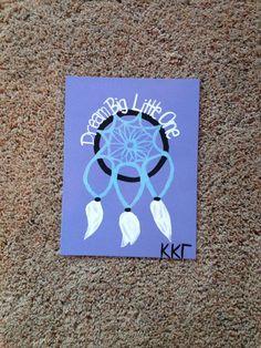 Big Little Sorority Craft- Kappa Kappa Gamma- Dream Big Little One on Etsy, $20.00