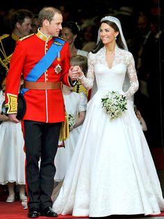 Prince William & Kate Middleton on their wedding day