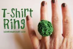 jengibre casera: Anillo T-Shirt Flor: Reutilización Día 11