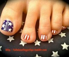4th of July pedicure!