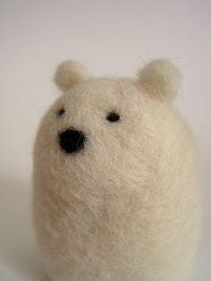 Needle Felted Polar Bear by Woolnimals (Etsy.com)