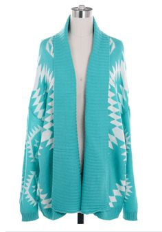 Aztec Sweater - Jade