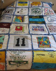 Custom TShirt Keepsake Memory Rag Quilt Fleece