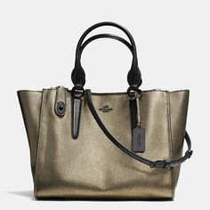 Burnished metallic leather tote from Coach. Sweet.