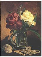 Edouard Manet: Still Life with Flowers, Fan, and Pearls. MMA