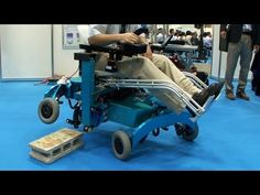 Robotic wheelchair from Chiba Tech turns wheels into legs and climbs over steps #DigInfo #awesome #iwantone