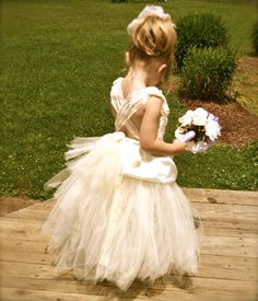 Flower Girl Dress by TwinningwithaToddler on Etsy