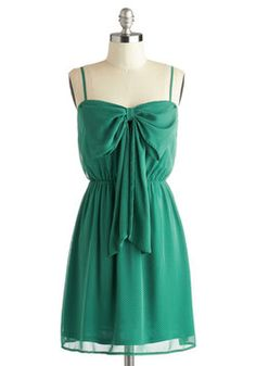 Save Your Spot Dress, #ModCloth The bow on this dress is just so adorable!! There are so many cute ways that I could wear this dress.