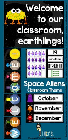 $ Space Aliens Classroom Theme - spaceships, rockets, planets, astronauts and friendly aliens are going to make your classroom look out-of-this-world cute!