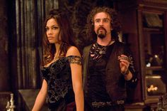 "Steve Coogan as Hades and Rosario Dawson as Persephone in ""Percy Jackson and the Lightning Thief"""