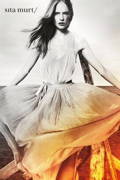 Tipo de fotografía - Vuelos  Katrin Thormann for Sita Murt Spring 2012 Campaign by Txema Yeste