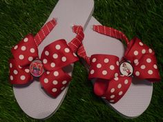 HUSKERS Flip Flops  Child & Adult Sizes FREE by 1YOUniqueboutique, $19.99