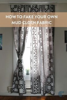 Learn how to stencil the ever-popular mud cloth print onto fabrics!