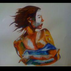 """Stolen""  Watercolor"