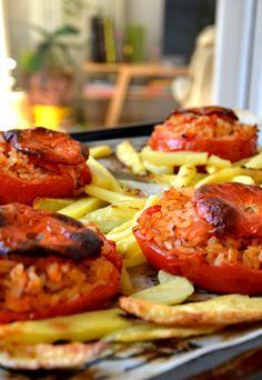 Pomodori con riso    TOMATOES STUFFED WITH RICE