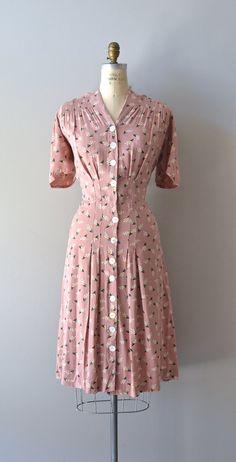 vintage 1930s dress / cotton 30s dress / Best Laid by DearGolden, $178.00