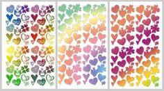 """Padrão """"Corações"""" - para origami e scrapbook"""