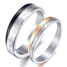 Cheap Promise Ring Bands for Girlfriend and Boyfriend