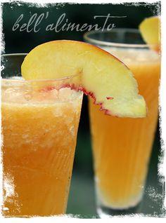 Frozen Peach Bellinis!