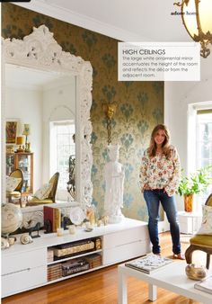 love this huge white mirror #Home #Interior #Design #Decor ༺༺  ❤ ℭƘ ༻༻  IrvinehomeBlog.com