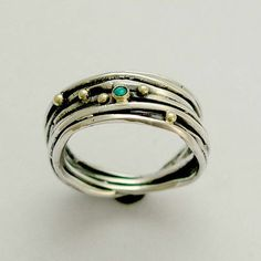 wrapped sterling ring