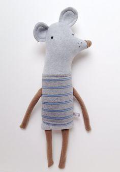 Plush Rodent Friend- Finkelstein's Center Handmade Creature