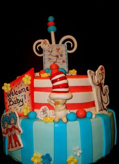 Dr Suess Baby shower by SugarCraze Cakes!, via Flickr