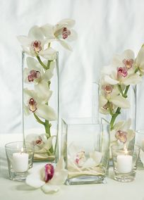 Square vases can be considered contemporary or traditional depending on how they are used. These vases can be used for floral centerpieces on your reception tables can add a dramatic look to your ceremony by using floating candles or can be incorporated into your candle table for a modern twist. The possibilities are endless! #davidsbridal #diy #weddings