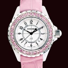 Bling pink Chanel watch