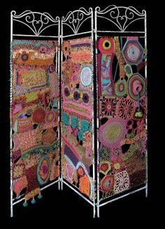 Room Dividers DIY Yarn Art Screen