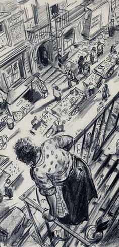 ink drawings plus perspective, how to ink draw like this? @Whitney Stem
