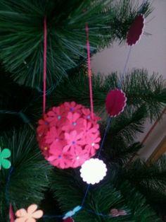 Adornos de papel arbolito de navidad