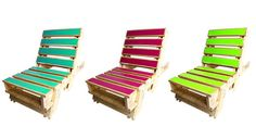 Each chair is hand made from a single recycled wooden pallet