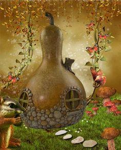 Gourd Fairy House Back