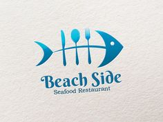 The ocean blue colour, along with the fish makes the viewer aware that this logo has something to do with the sea, and also creatively uses silverware for the fish bones to show that it is probably a seafood restaurant.