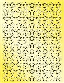 "Gold Mini Star Sticker - Printable Star Labels - 0.75"" x 0.75"""